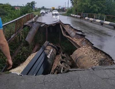 Под Волгоградом рухнул автомобильный мост