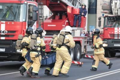 В центре Петербурга загорелся троллейбус
