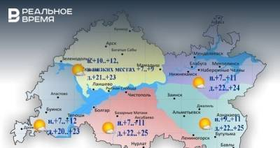 Сегодня в Татарстане ожидается до +25 градусов