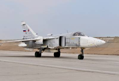 Фронтовой бомбардировщик Су-24 упал в Пермском крае