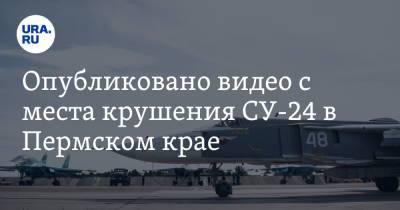 Опубликовано видео с места крушения СУ-24 в Пермском крае