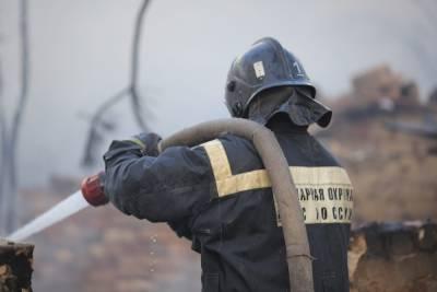Под Волгоградом пожарные за 20 минут потушили частный дом