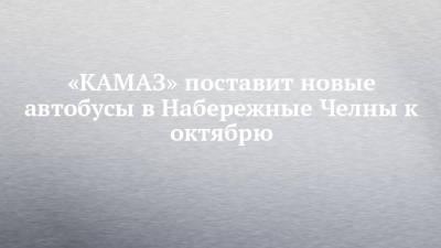 «КАМАЗ» поставит новые автобусы в Набережные Челны к октябрю