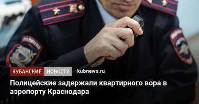 Полицейские задержали квартирного вора в аэропорту Краснодара