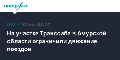 На участке Транссиба в Амурской области ограничили движение поездов