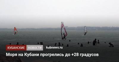 Моря на Кубани прогрелись до +28 градусов