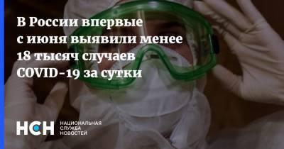 В России впервые с июня выявили менее 18 тысяч случаев COVID-19 за сутки