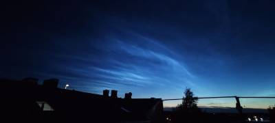 В небе над Санкт-Петербургом были замечены «Серебристые облака» — фото и видео