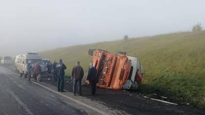 Минимум 11 человек пострадали в ДТП с вахтовым автобусом в Кузбассе