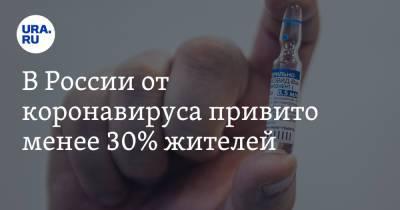 В России от коронавируса привито менее 30% жителей