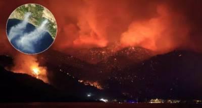 НАСА опубликовало спутниковые снимки лесных пожаров в Турции (ФОТО)