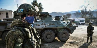 Российские пограничники разместились на границе Армении и Азербайджана