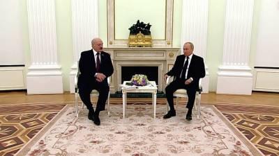Владимир Путин и Александр Лукашенко обсудили вопросы экономической интеграции в рамках Союзного государства РФ и Белоруссии