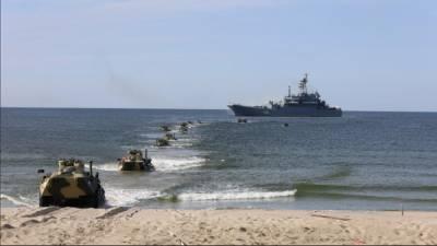 Опубликовано видео боев морпехов Северного флота РФ за захват Балтийского побережья