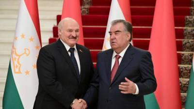 Эмомали Рахмон с Александром Лукашенко обсудили военно-политическую обстановку в регионе