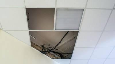 Потолок обрушился на учеников в гимназии в центре Петербурга
