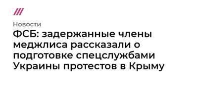ФСБ: задержанные члены меджлиса рассказали о подготовке спецслужбами Украины протестов в Крыму