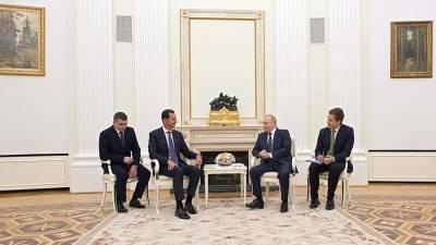 В Кремле рассказали о встрече Путина и Асада