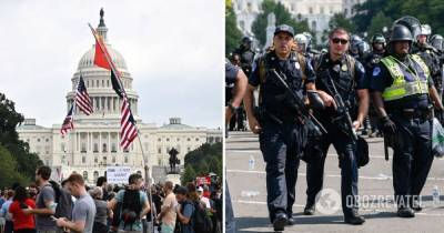 Митинг у Капитолия: в США из-за сторонников Трампа стянули военную технику - фото, видео