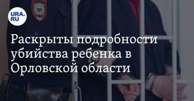 Раскрыты подробности убийства ребенка в Орловской области