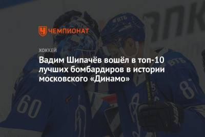 Вадим Шипачёв вошёл в топ-10 лучших бомбардиров в истории московского «Динамо»