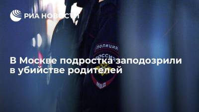 В Москве задержали шестнадцатилетнего подростка, подозреваемого в убийстве родителей