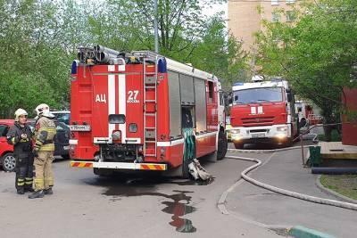 Квартира загорелась в многоэтажке на юго-востоке Москвы