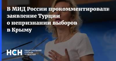 В МИД России прокомментировали заявление Турции о непризнании выборов в Крыму