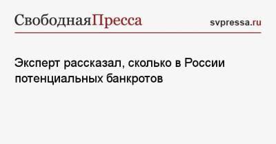 Эксперт рассказал, сколько в России потенциальных банкротов