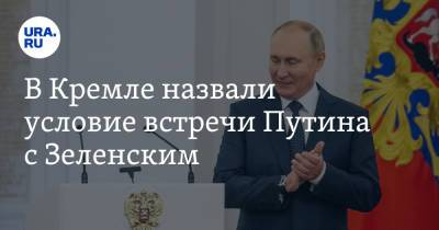 В Кремле назвали условие встречи Путина с Зеленским