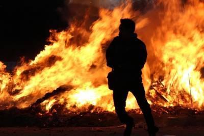 В Рязани при пожаре на улице Предзаводской погибли два человека
