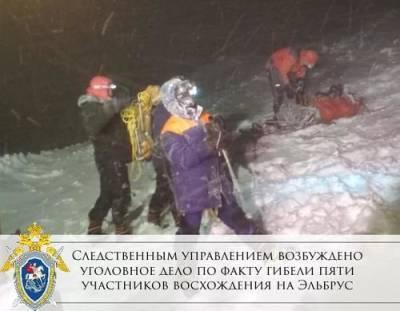 В Кабардино-Балкарии следователи возбудили уголовное дело по факту гибели пяти туристов на Эльбрусе