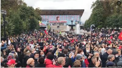 В центре Москвы проходит несогласованная акция КПРФ