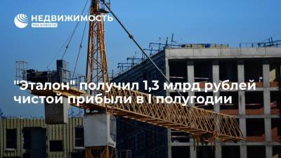 """Девелопер """"Эталон"""" получил 1,3 млрд рублей чистой прибыли в I полугодии"""