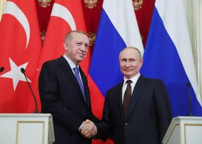 Песков раскрыл темы переговоров Путина и Эрдогана