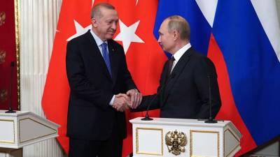 Песков рассказал о подготовке встречи Путина и Эрдогана