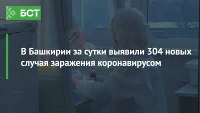В Башкирии за сутки выявили 304 новых случая заражения коронавирусом