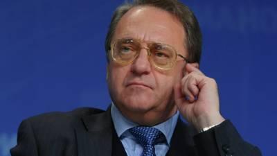 Богданов провёл телефонный разговор с Педерсеном