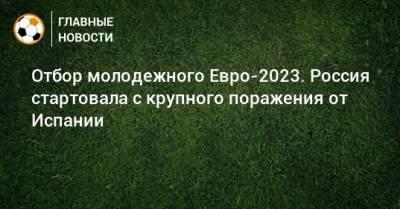 Отбор молодежного Евро-2023. Россия стартовала с крупного поражения от Испании