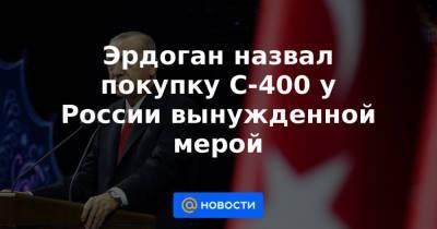 Эрдоган назвал покупку С-400 у России вынужденной мерой