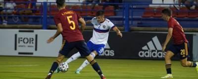 Молодежная сборная России по футболу разгромно уступила Испании