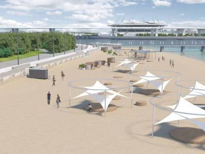 Благоустройство пляжа парка 300-летия Петербурга завершится к концу 2024 года